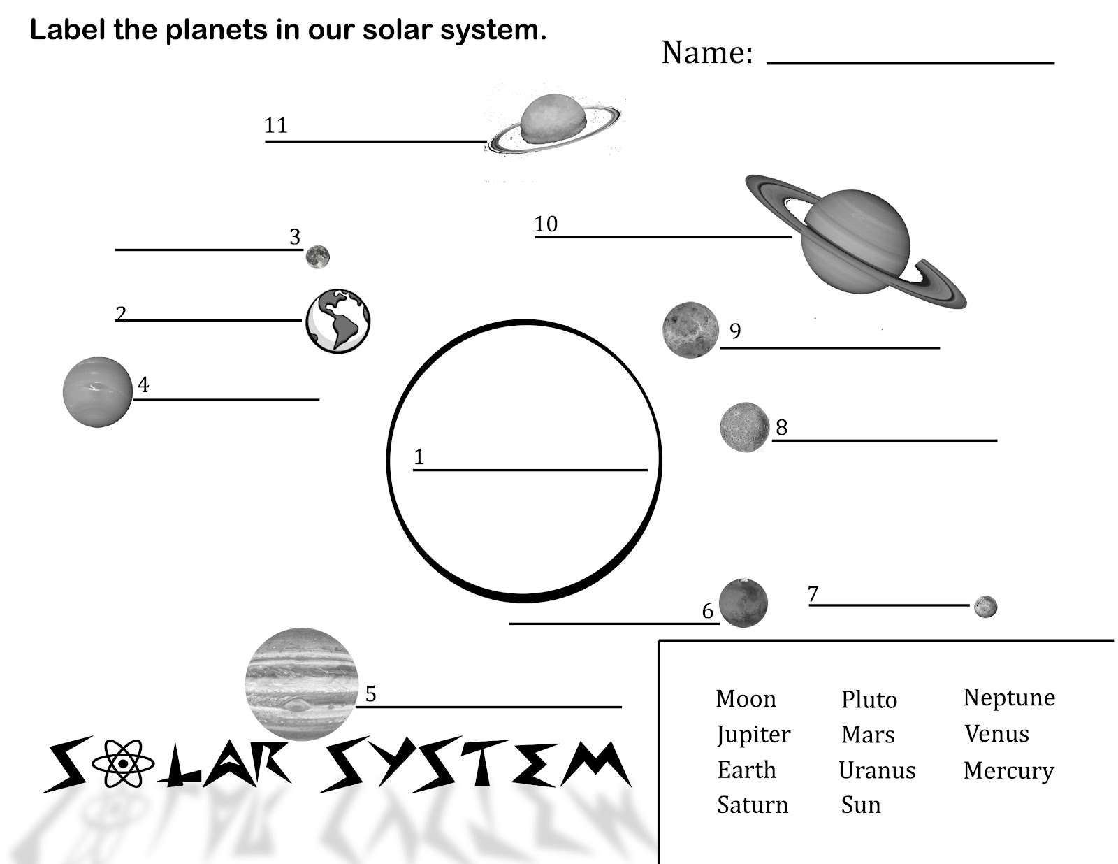 Solar System Lesson Plans Themes Printouts Crafts